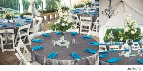 teal gray wedding reception, turquise, wedding, linens