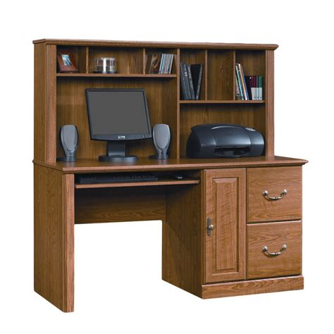 Computer Desk Hutch Sauder Orchard Computer Desk With Hutch Reviews Wayfair