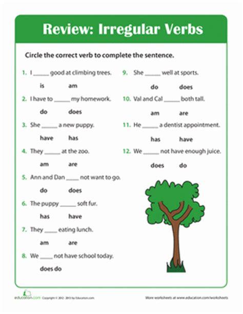 2nd Grade Grammar Worksheets by Grammar Time Irregular Verbs Worksheet Education