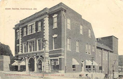 Us Post Office Fayetteville Ar by 1907 15 Print Postcard Ozark Theatre Fayetteville Ar