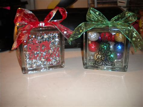 christmas ideas for glass blocks jean s crafty corner day 5 of 20 days of glass blocks and second a
