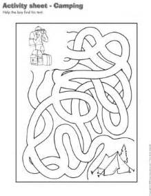 Open Activity Sheet  Camping Sheets Are Suggested For Each sketch template