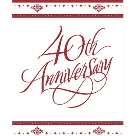 Ruby Wedding Anniversary Quotes by 40th Ruby Wedding Anniversary Invitations 25 Pack