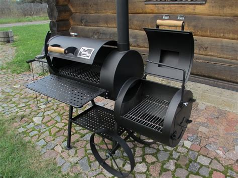 Rustic Cooking grill smoker 16 reverse flow 8 mm