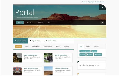 how to create a joomla template responsive news joomla template portal joomlabamboo