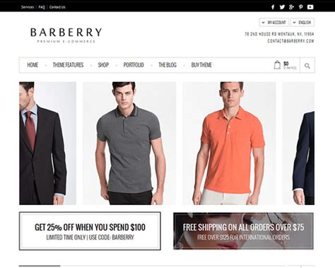 barberry wordpress online store template themeshaker com