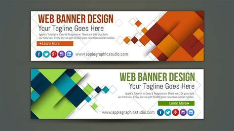 Web Ad Design Tutorial | professional web banner ad design photoshop tutorial