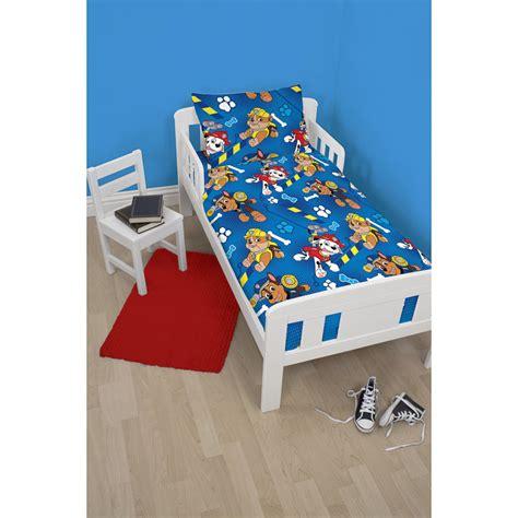 paw patrol bed paw patrol toddler bed set bedding duvets