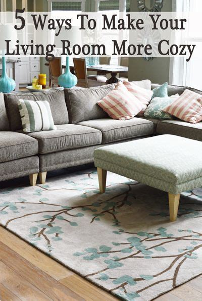 How To Make A Living Room Feel Cozy - 1 rugs or carpet this is one of the most key things to