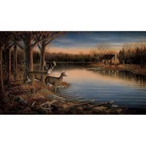 Deer Wall Murals Discount Wallcovering Tranquil Evening Deer Mural Mgt032