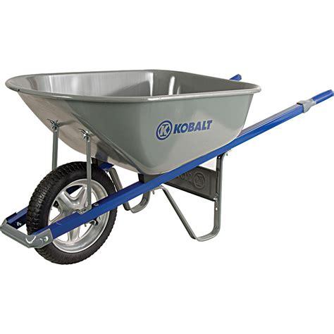 kobalt  cubic ft steel wheelbarrow lowes canada
