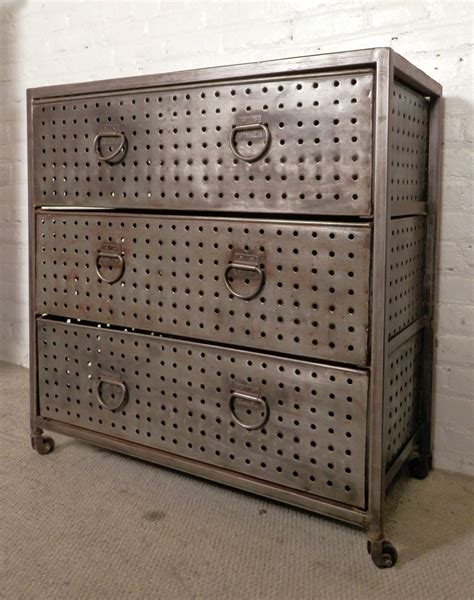 bare metal style industrial dresser at 1stdibs