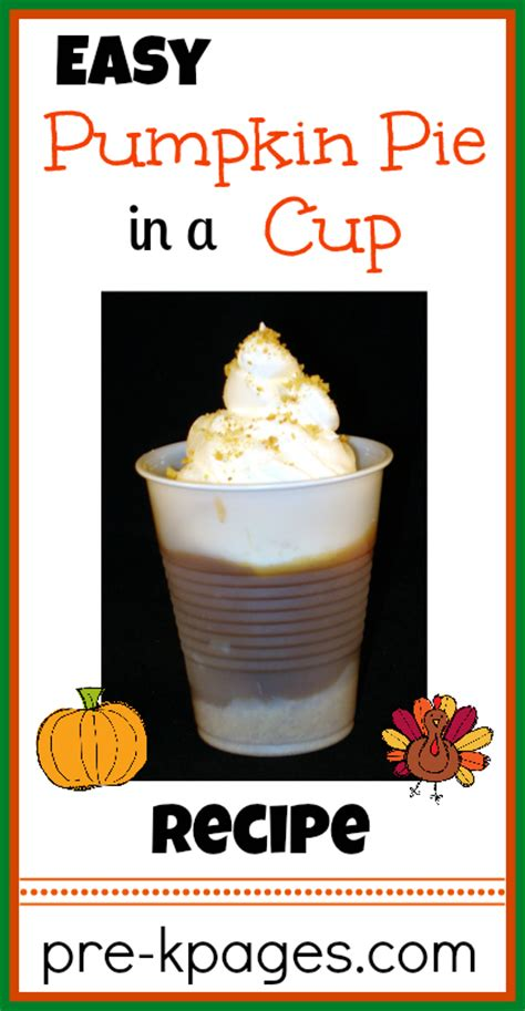 printable pumpkin recipes pumpkin pie in a cup recipe thanksgiving preschool