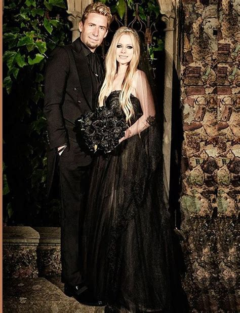 avril lavigne chad kroeger wedding black wedding dress kaleidoscope effect