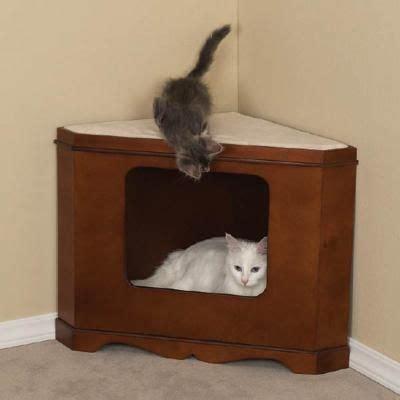 unique cat furniture cats corner bed unique bed furry fun pinterest