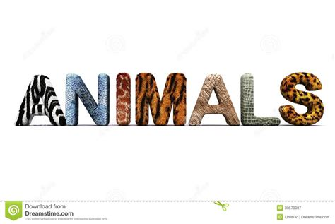 5 Letter Words Animal word animals with fur letters stock illustration