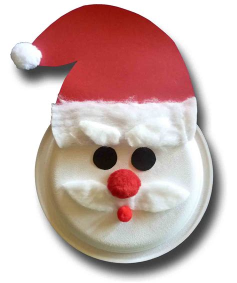 paper crafts for children 187 paper plate santa