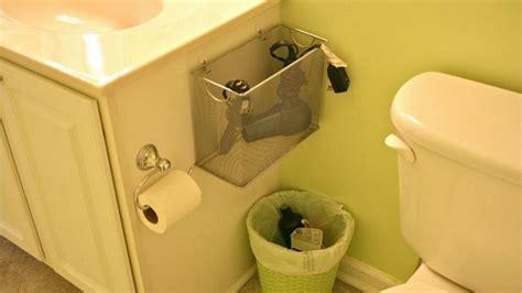 bathroom blow repurpose a mesh file box into a bathroom appliance holder