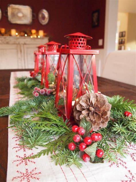 christmas lantern centerpieces christmas table