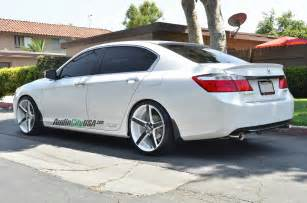 2014 honda accord sedan on 20 quot str 607 white windows