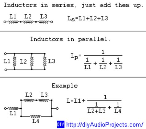 series parallel combination of inductors basic electronics