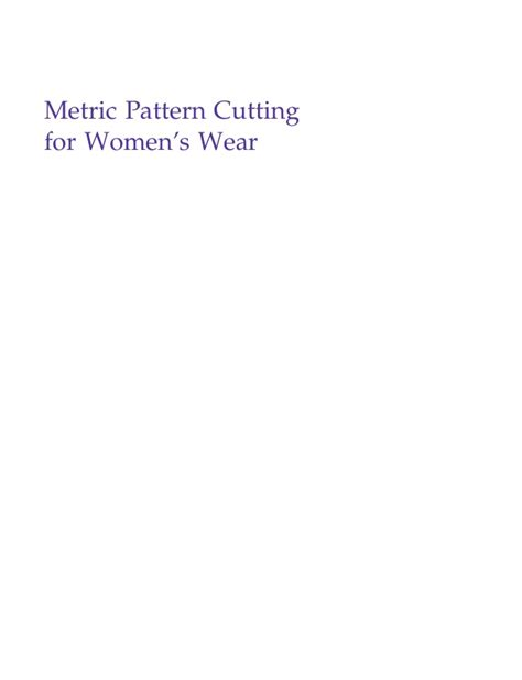 pattern cutting for menswear metric pattern cutting womenswear winifred aldrich