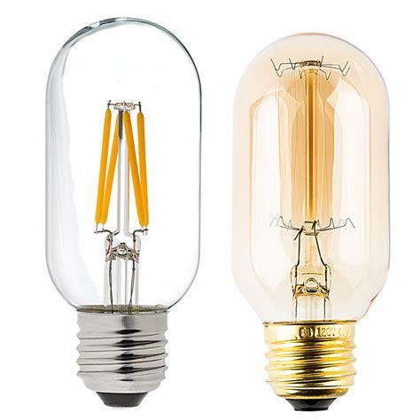 Compare Led Light Bulbs T14 Led Filament Bulb 40 Watt Equivalent Vintage Light Bulb Radio Style Dimmable 350