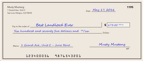 money order address section how to pay your rent educated renter certificate program