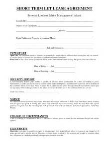 Short Term Tenancy Agreement Template Free 10 best images of simple short lease agreement template