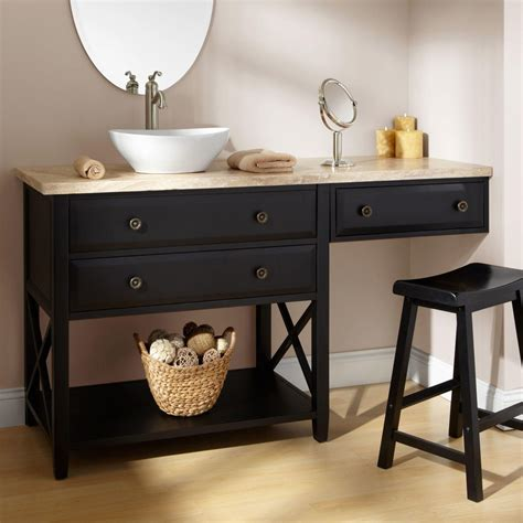 black bathroom vanity with sink bathroom vanity with makeup area 60 quot clinton black