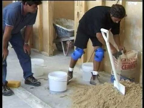 Ways To Level A Floor by How To Tile Grout Part 2 Screeding A Floor The Best Way To Level A Floor With Sand And Cement