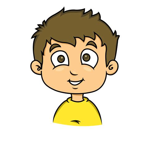 young man head clip art free cartoon young boy face clip art