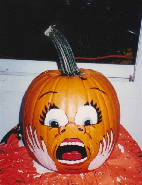 pumpkin painted scare face craft ideas pinterest scared face pumpkin painting and face