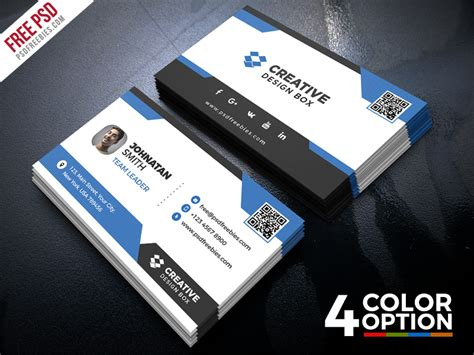 card templates psd behance 100 free business card psd templates