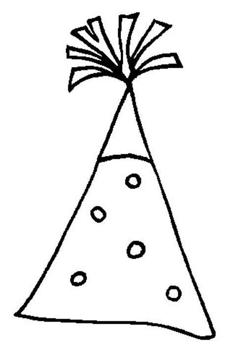 coloring pages of birthday hats 5 best images of party hat coloring printables birthday