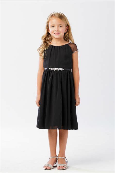 ttb girls dress style  black capped sleeve