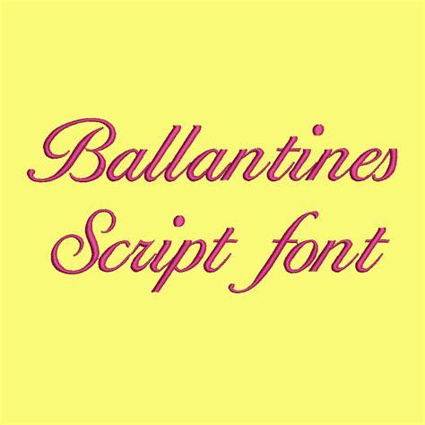 design system e font free 4 size ballantines script font embroidery designs bx fonts
