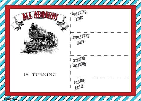 printable train birthday invitations wording bagvania