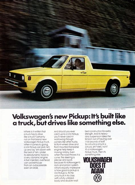 volkswagen rabbit pickup lost cars of the 1980s subaru bi drive recreationa