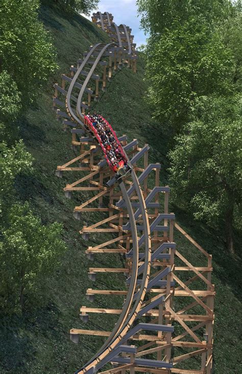 doll wood dollywood announces lightning rod launched wooden coaster