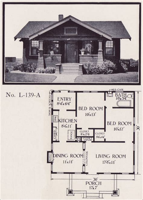 californian bungalow floor plans 1922 california bungalow plan by e w stillwell co i