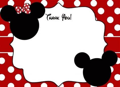 disney thank you card template 633 best mickey and minnie mouse images on