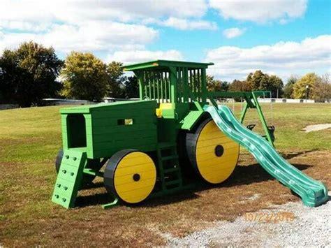 tractor swing john deere playground dream home pinterest john