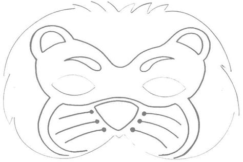 printable mask of lion 5 best images of lion mask printable templates printable