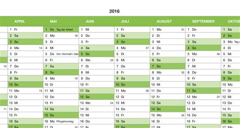 Kalender 2016 Jahresansicht Numbers Vorlage Kalender 2016 Ganzjahr Numbersvorlagen De