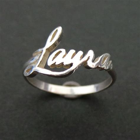 Cincin Nama Silver Monel Polos 10mm personalized name ring style sterling silver yhtanaff jewelry on artfire