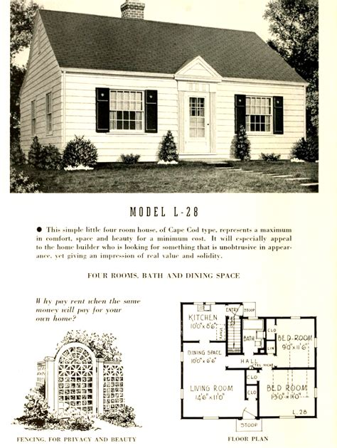 Small Cape Cod House Plans cape cod floor plans 1950