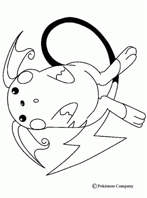 raichu coloring page raichu coloring pages coloring home
