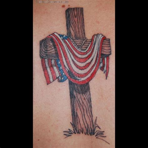 cross flag tattoo cross and american flag ideas