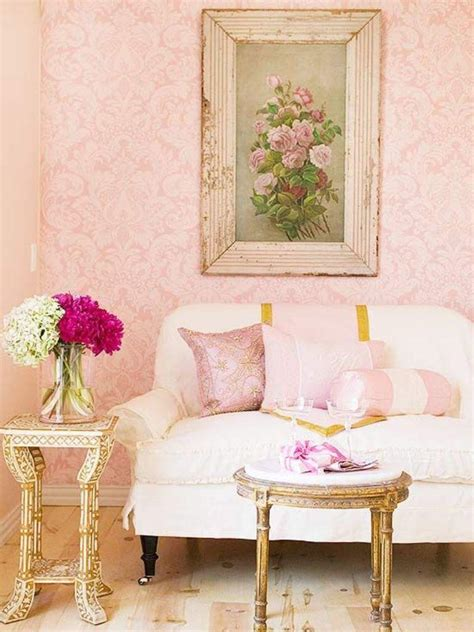 pink and gold living room 30 and chic living rooms with damask wallpaper rilane
